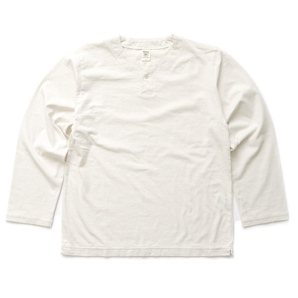 Long Sleeve Henley Tee - Ecru