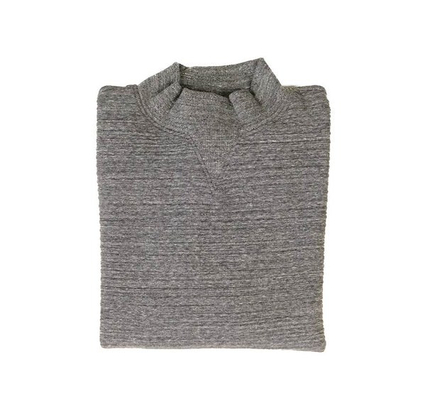 Quilt Sweater Highneck - Charcoal