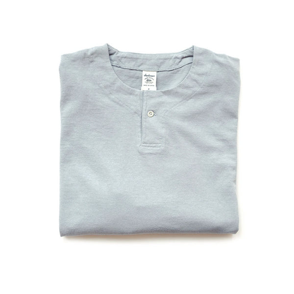 Long Sleeve Henley Tee - Grey