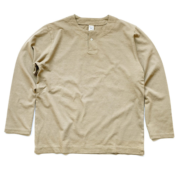 Long Sleeve Henley Tee - Umber Brown