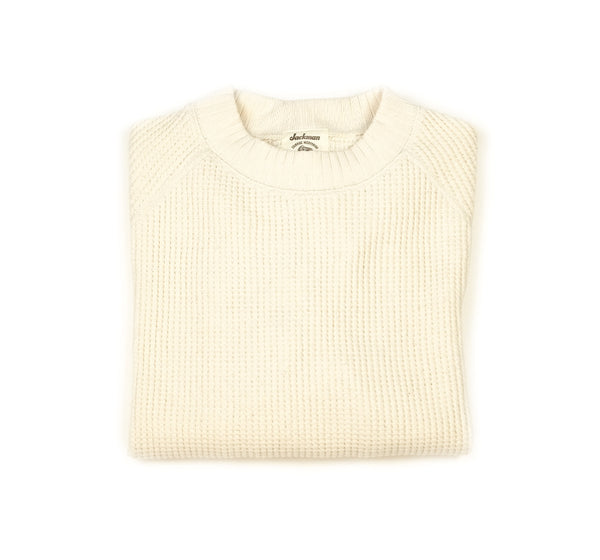 Waffle Midneck - Ivory - Small