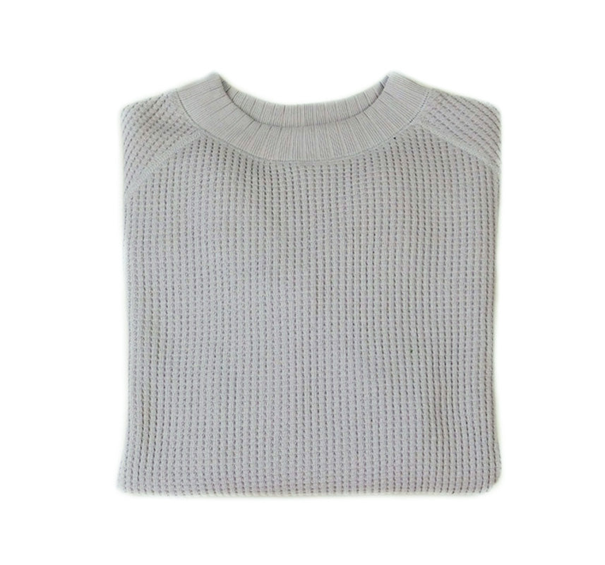 Waffle Midneck - Steel Silver