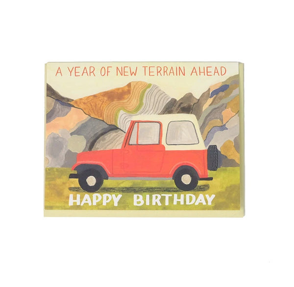 New Year, New Terrain - Birthday Card