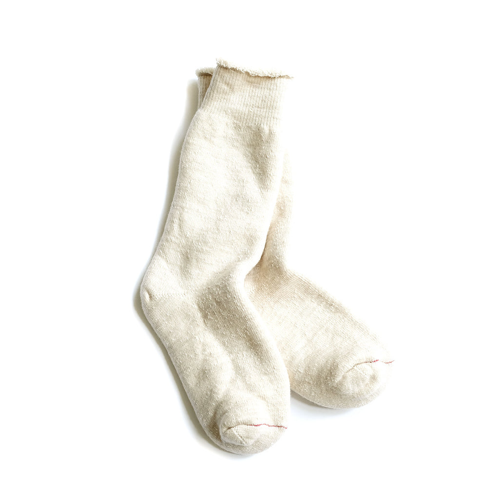 Women's Double Face Merino + Cotton Socks - Oatmeal