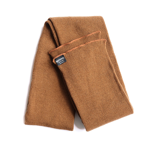 Rototo Knit Scarf - Light Brown