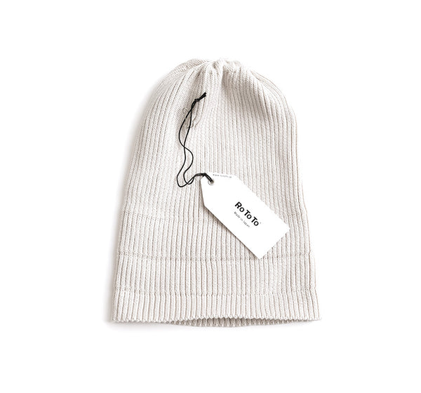 Cotton Roll Up Beanie - Ivory