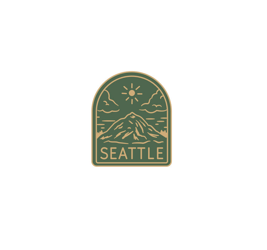Seattle Mount Rainier Pin