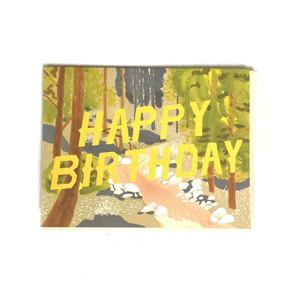 Forest Path - Birthday Card