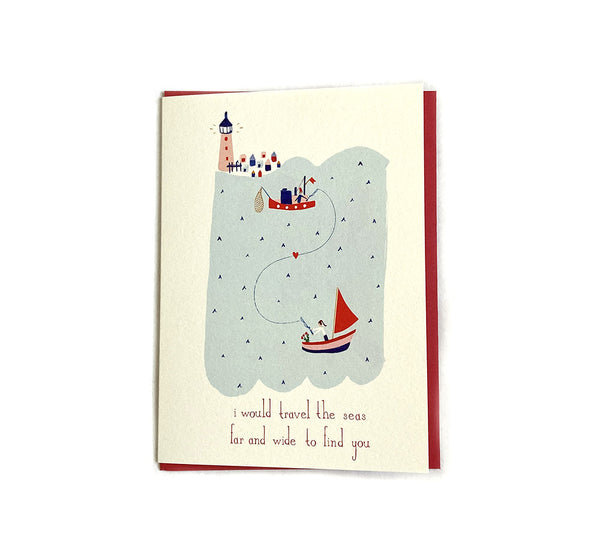 Lovers in the Sea - Love and Friendship Card