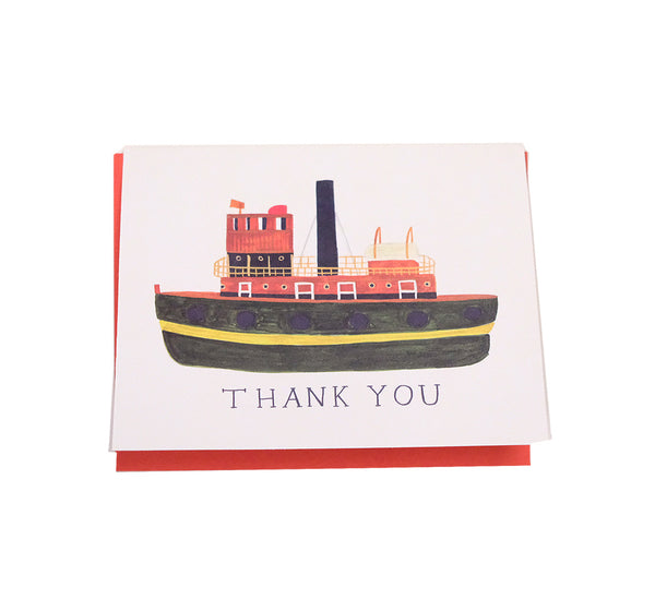 Tug Boat Thank You - Love and Friendship Card