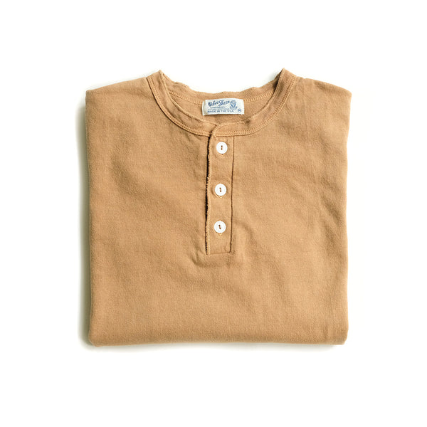 Heavy  Long Sleeve Henley - Cork