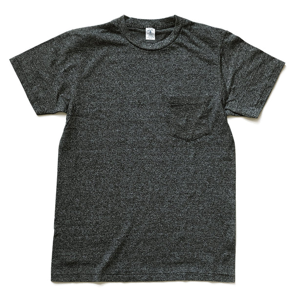 Mock Twist Pocket Tee - Heather Black