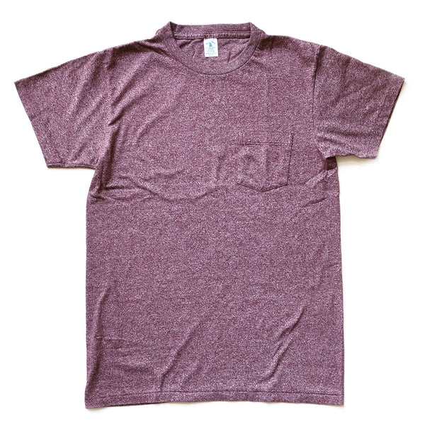 Mock Twist Pocket Tee - Heather Burgundy