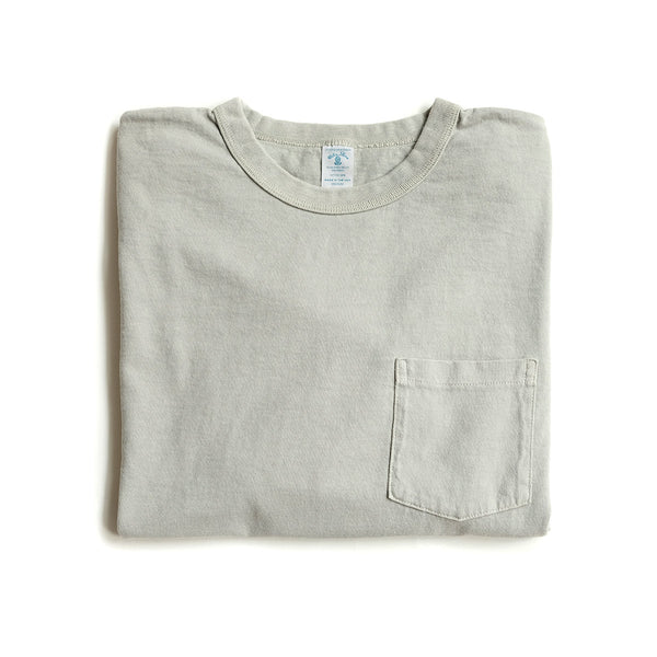 Long Sleeve Pigment Dyed Pocket Tee – Grey
