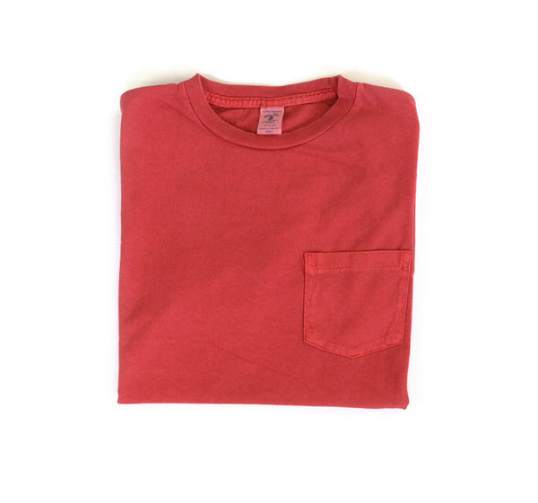 Pigment Dyed Pocket Tee - Red