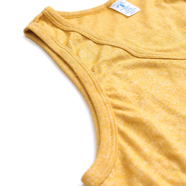 Mock Twist Tank Top with Pocket - Heather Gold