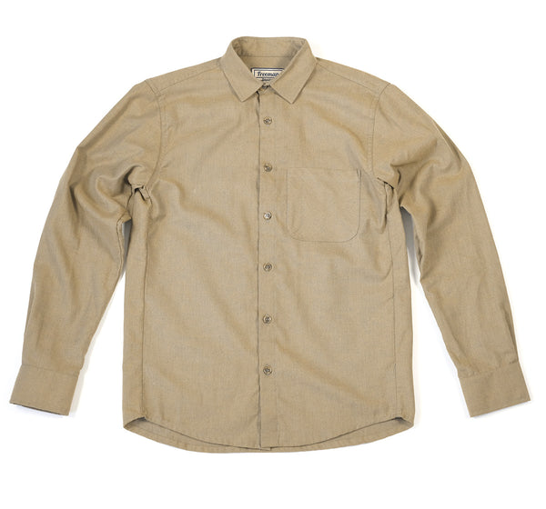 Weathervane Shirt – Cumin Brushed Twill