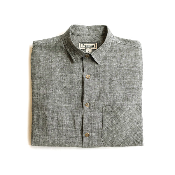 Weathervane Shirt –  Black Hemp Chambray