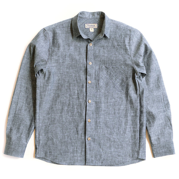 Weathervane Shirt –  Indigo Hemp Chambray