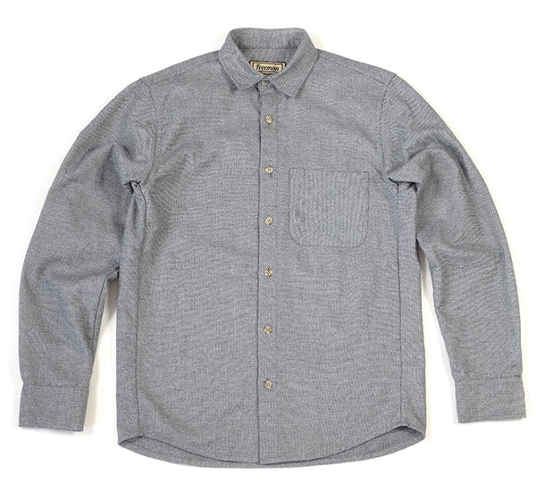 Weathervane Shirt - Salt and Pepper Flannel - Size 36