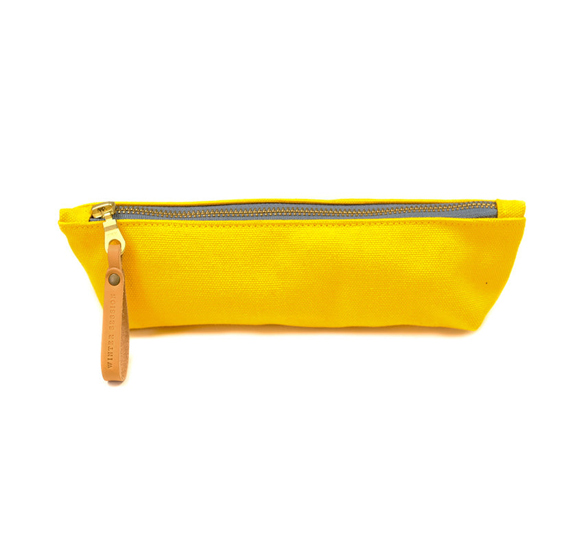 Canvas Zip Bag - Small - Yellow