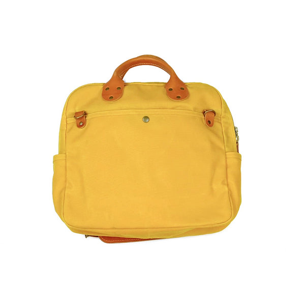 Waxed Canvas Travel Day Bag - Mustard