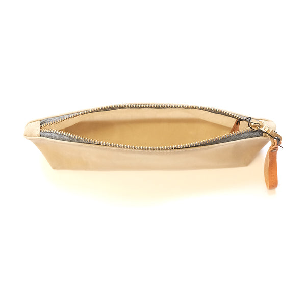 Waxed Canvas Zip Bag - Small - Sand