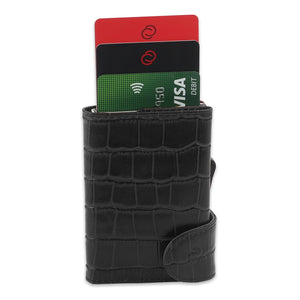 Open image in slideshow, RFID CROC LEATHER WALLET