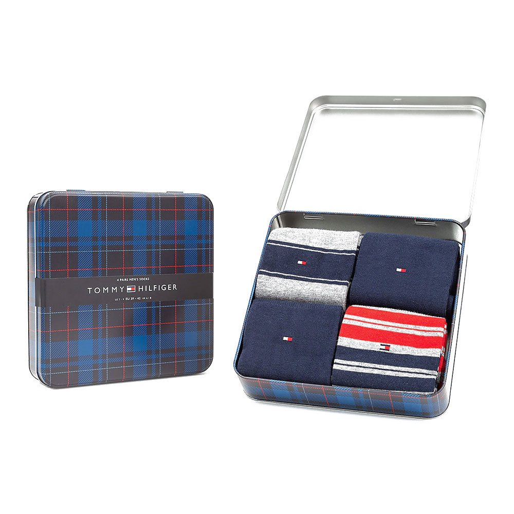 TOMMY SOCKS 4PK STRIPE