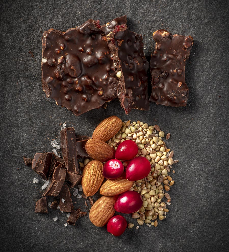 BRIDGEPEAK-Cranberry-Almond-Sea-Salt-Dark-Chocolate-Bark-Ingredients