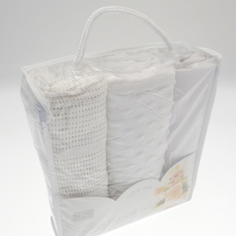 Soft & Cosy 3 Piece Moses Basket Set