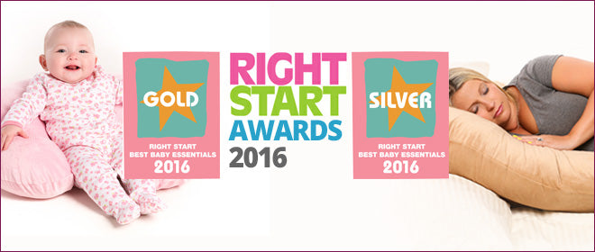 our pregnancy and nursing pillow win at the Right Start baby Awards 2016