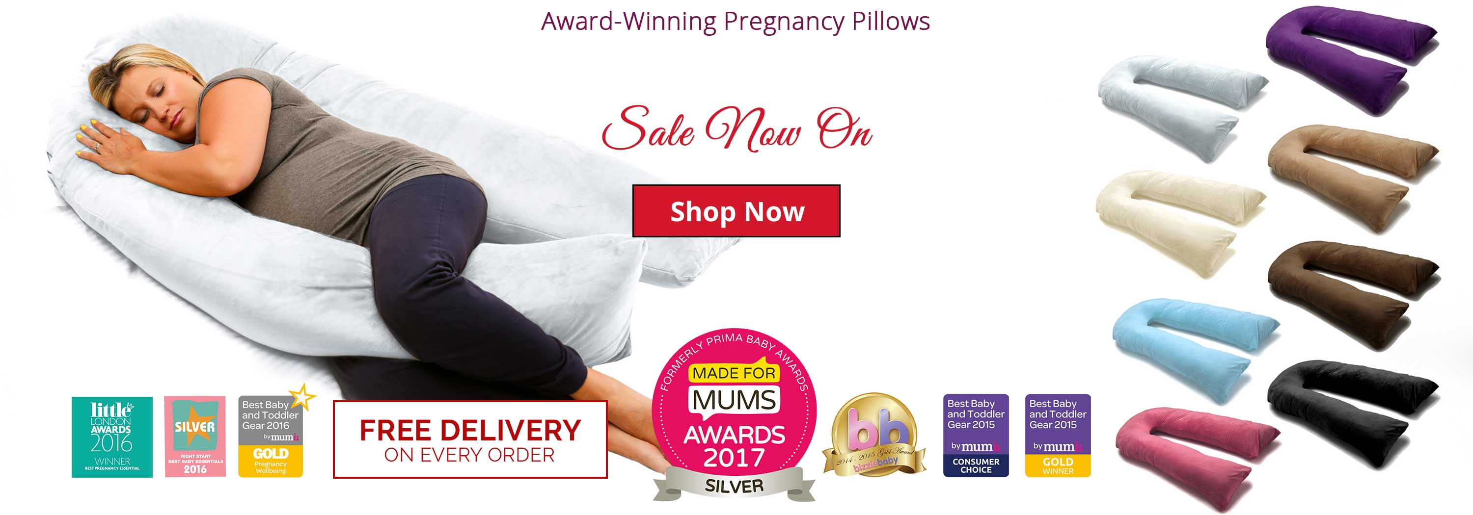 Introducing our new pregnancy pillow colour, Silver