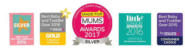 Awards won including Made for Mums Award