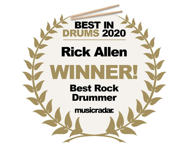 RICK ALLEN WINS MUSIC RADAR'S BEST ROCK DRUMMER OF THE YEAR