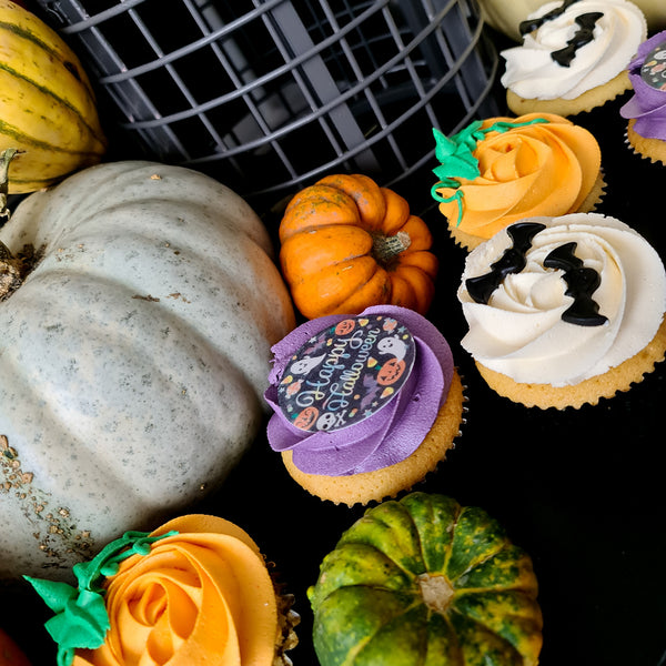 Halloween cupcakes and pumpkins Isle of Man
