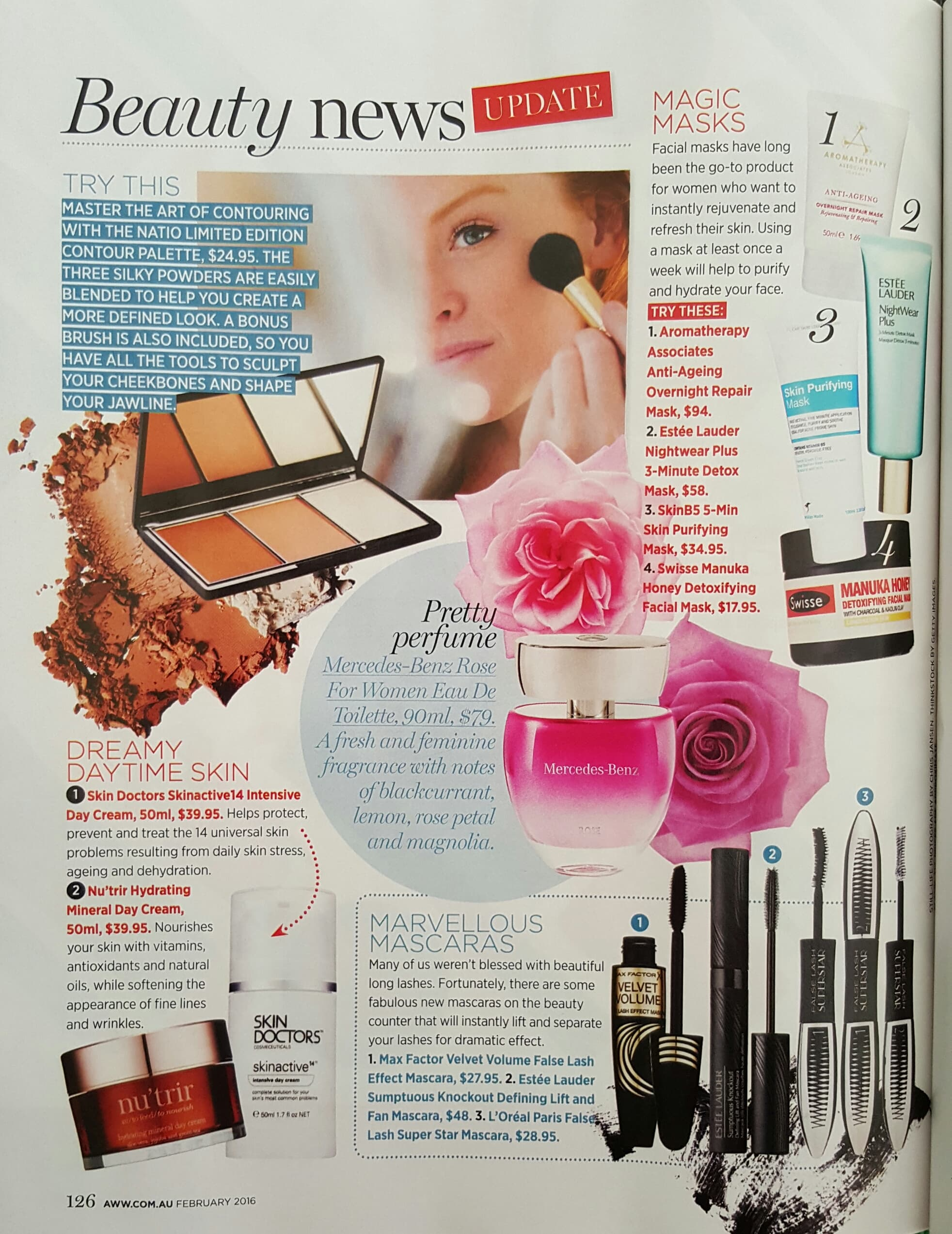 SkinB5 Clay Mask featured in Australian Women's Weekly magazine