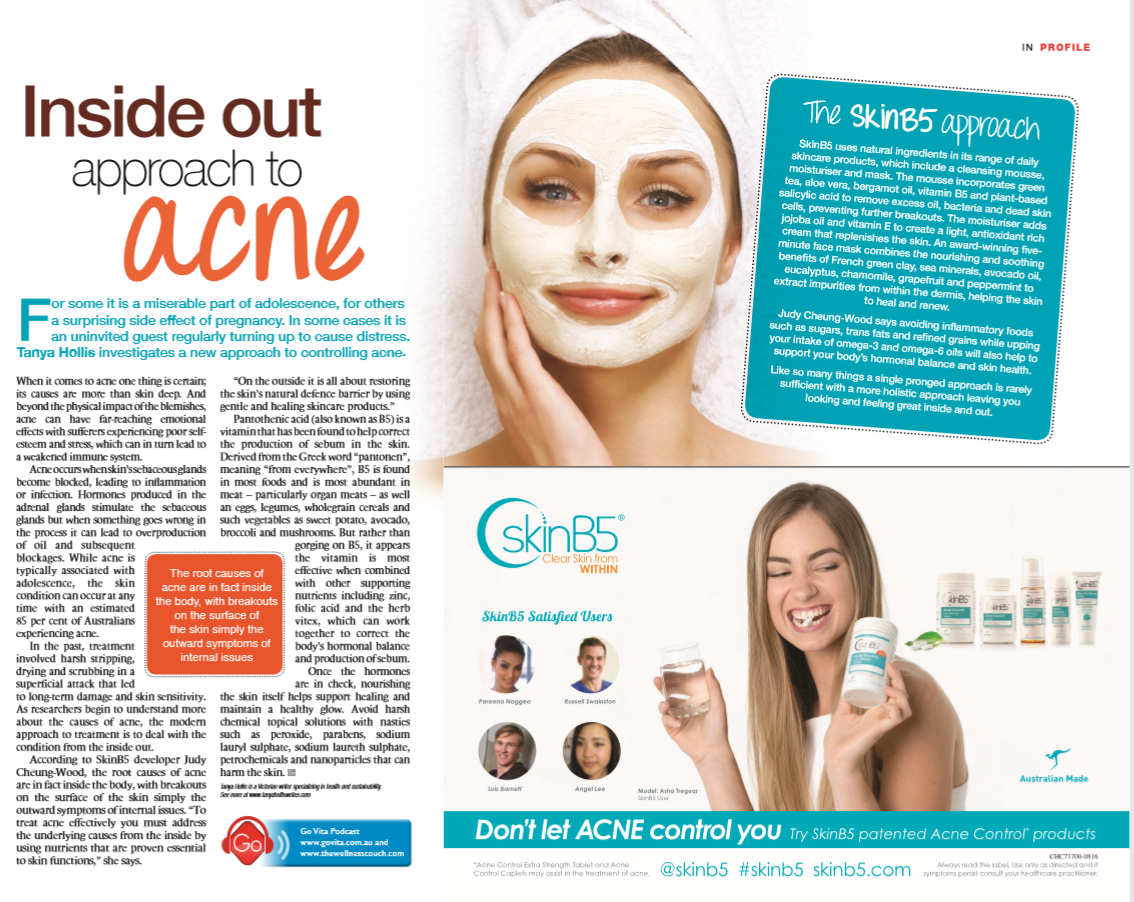 Go Magazine inside out approach to acne