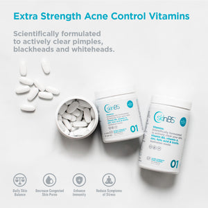 Extra Strength Acne Control Vitamins - 2 Bottle Sizes