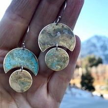 Load image into Gallery viewer, Cortez - Brass Patina Earrings