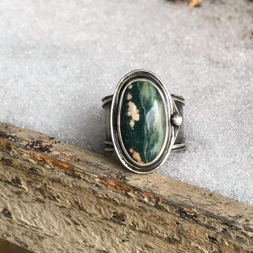 "Ocean Jasper ""Mid-Season"" Ring"