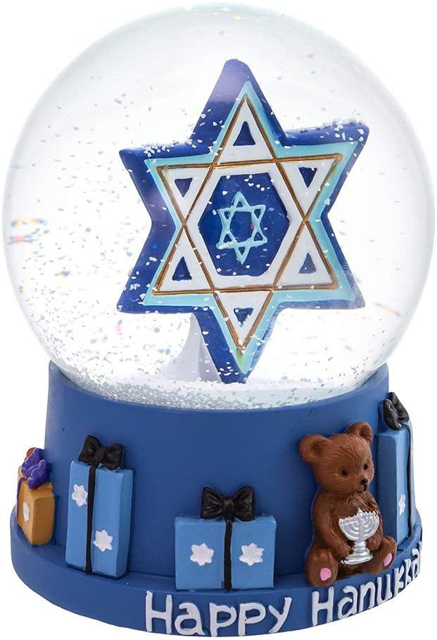MUSICAL HANUKKAH STAR WATERGLOBE