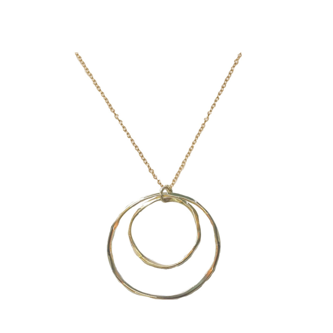 ORGANIC CIRCLES NECKLACE SILVER & GOLD