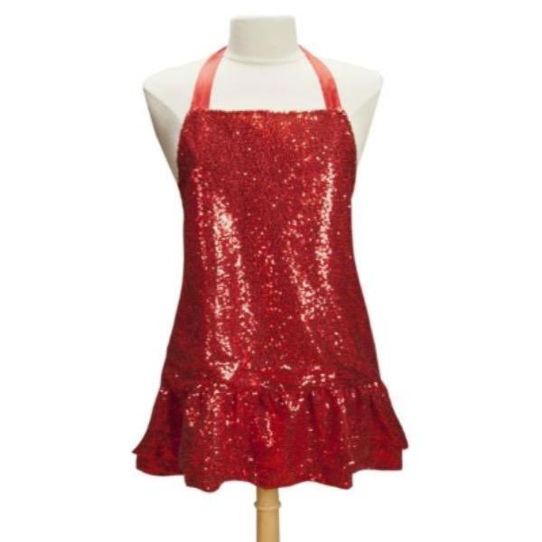 Red Sequin Apron