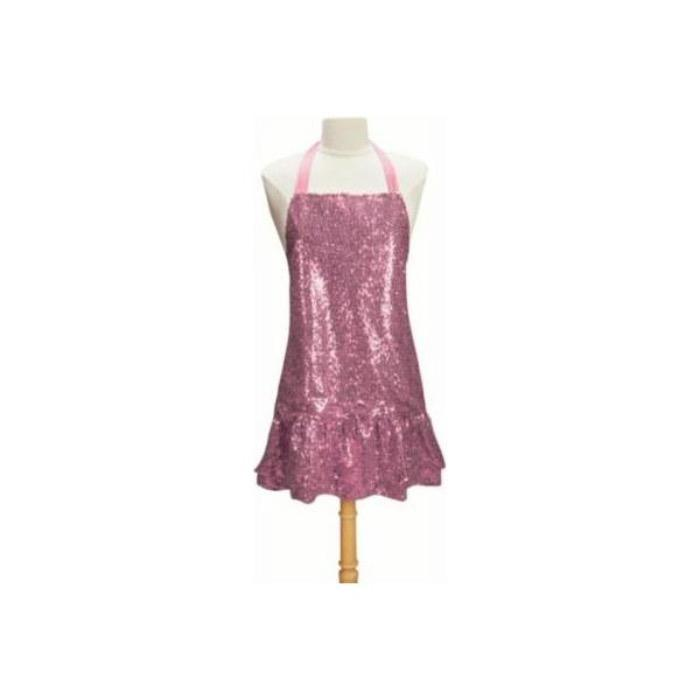 Pink Sequin Apron