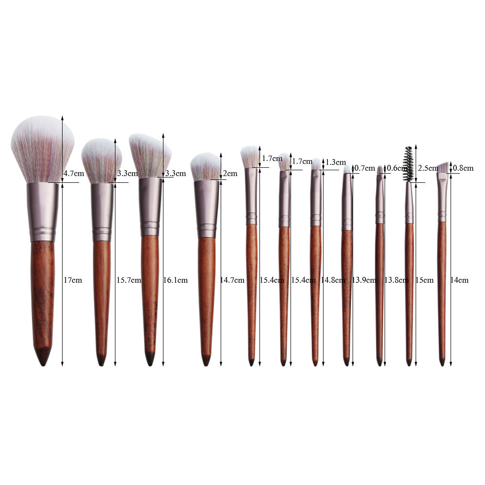 Sandalwood Makeup Brush Set