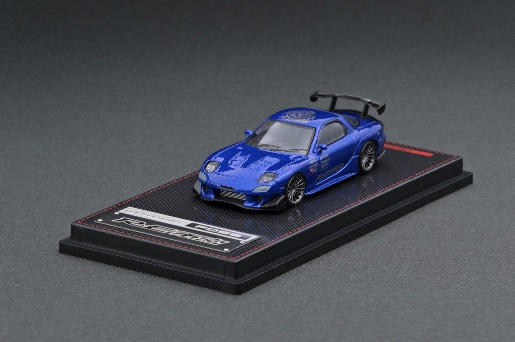 Ignition Model 1/64 Mazda RX-7 (FD3S) RE Amemiya Blue Metallic - Little Luca's Toys