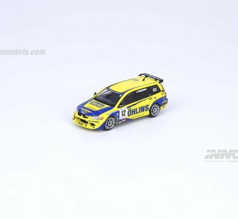 INNO64 1:64 Mitsubishi Lancer Evolution IX Wagon #12 Ohlins - Little Luca's Toys