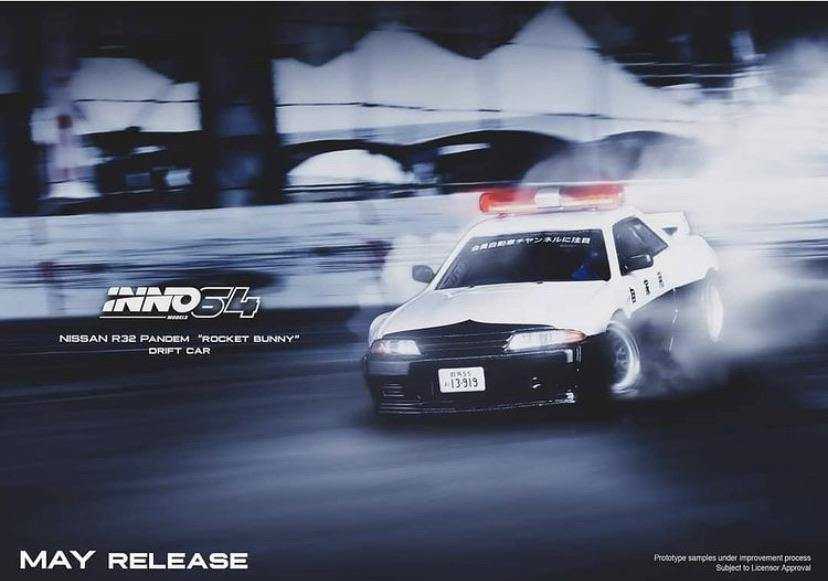 INNO64 1:64 Nissan Skyline R32 Pandem Rocket Bunny Drift car