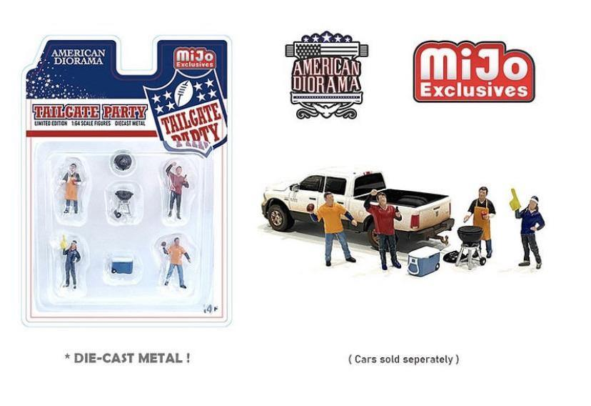 American Diorama 1:64 Mijo Exclusive Tailgate Party Figures - Little Luca's Toys